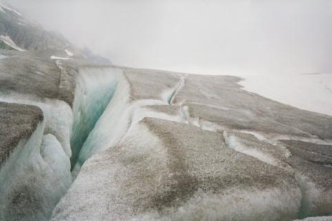 Le glacier du Rhône. Photo de Patrick Huet.