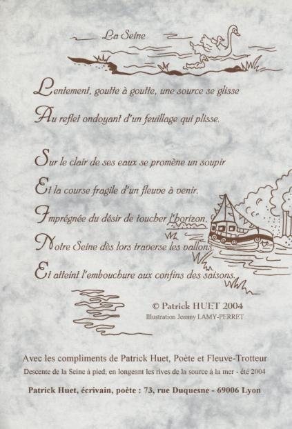 Poème sur la Seine de Patrick Huet