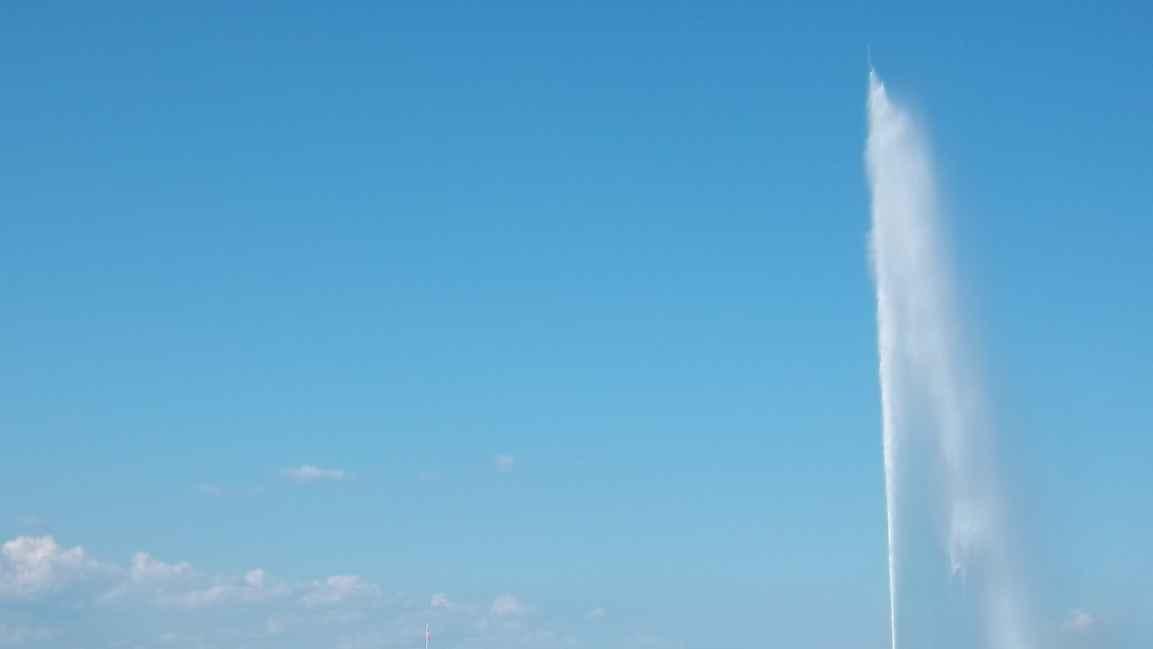 Genève photo du Jet d'eau par Patrick Huet Fleuve-trotteur