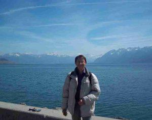 Patrick Huet à Lausanne au Lac Léman.